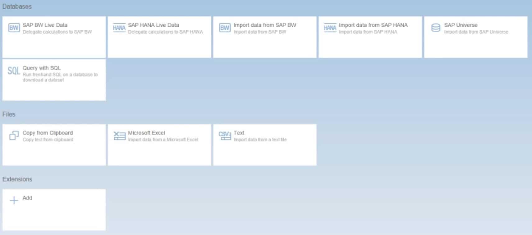 SAP-Lumira-Databases
