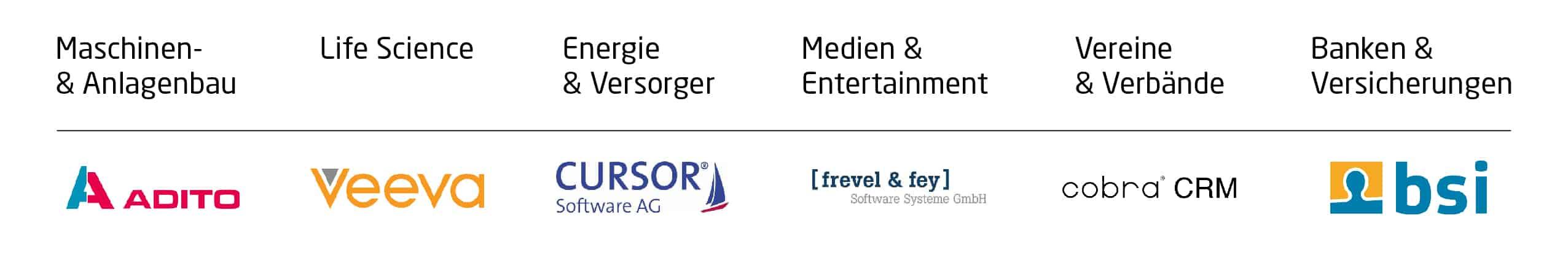 CRM-Vergleich Branchenanbieter